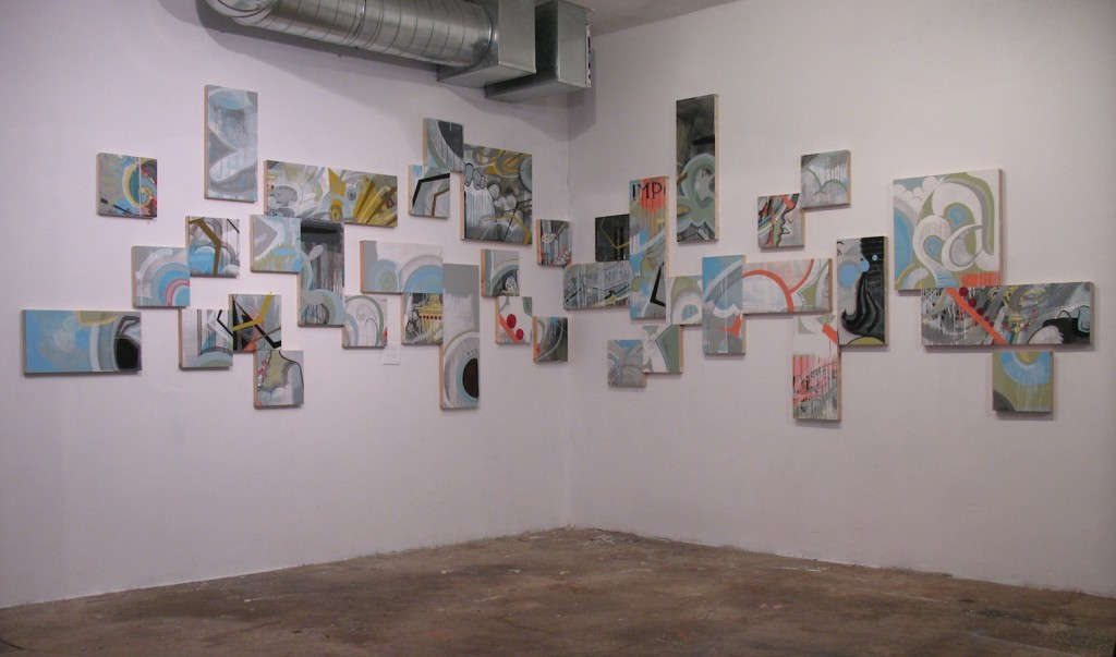 Installation view of untitled collaborative work with Louis LaPierre