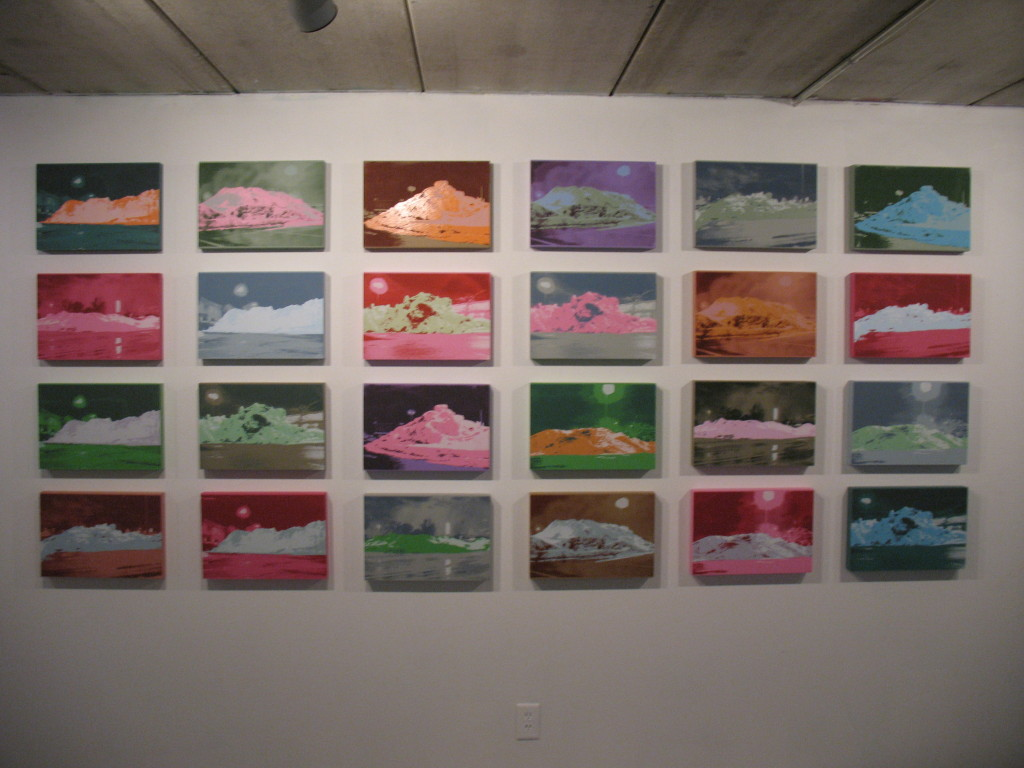 'untitled' Installation view of snowpile series at Cult Status Gallery